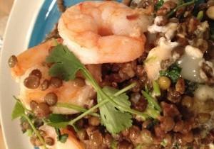 Lentil and Prawn Mess