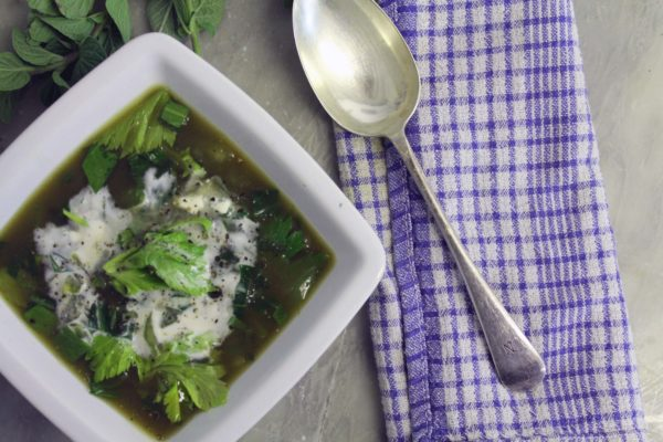 Nettle Soup with Sour Cream