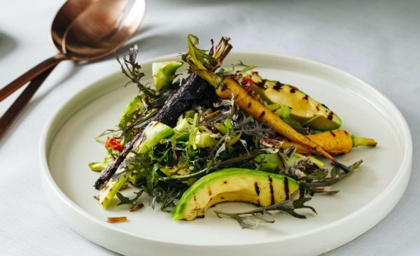 Grilled Avocado Salad with a Tahini Dressing
