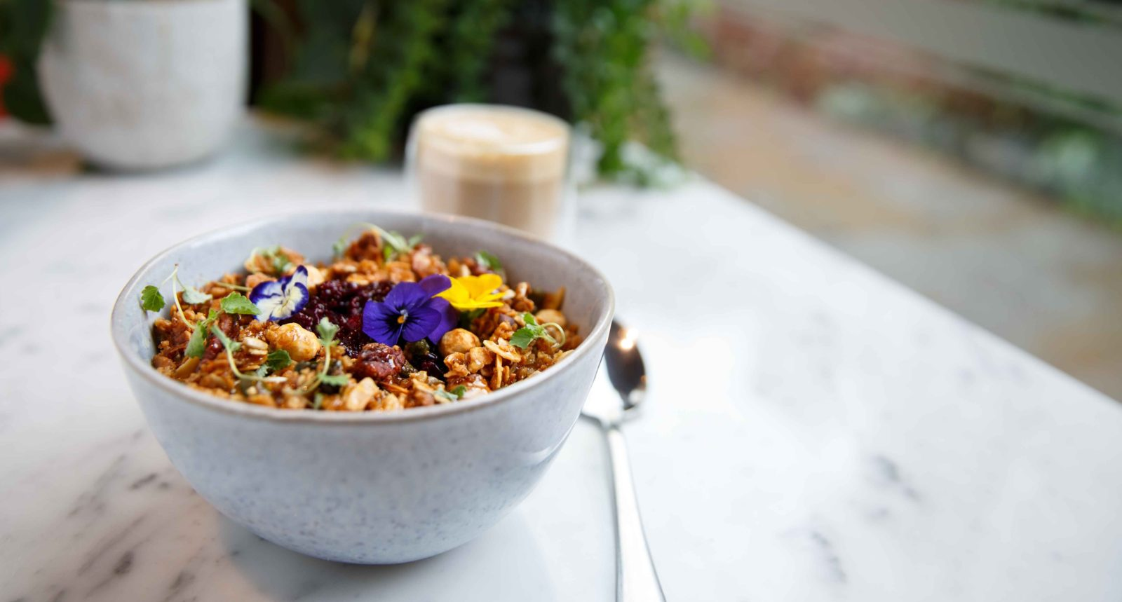 Soane's Kitchen granola with edible petals