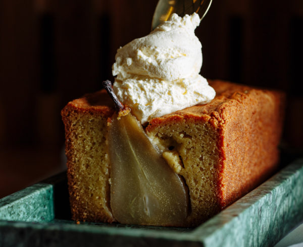 Spiced Pear and Honey Loaf Cake