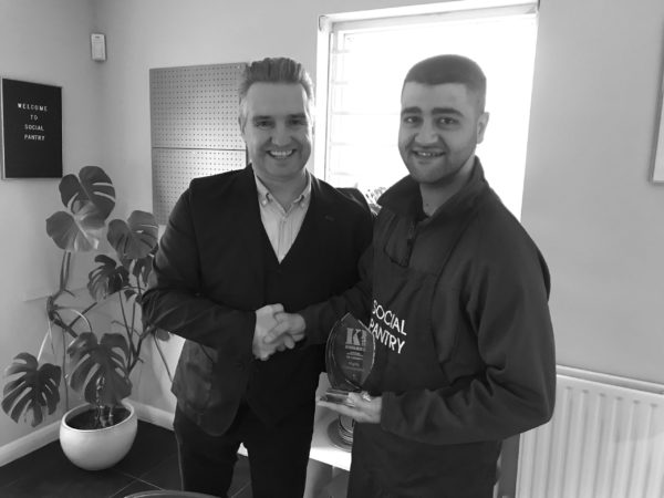 Sulhail receiving The Caterer Top 10 Finalist for the KP Awards 2018